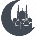crescent, islam, muslim, ramadan icon