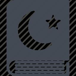 crescent, islam, koran, ramadan, star icon