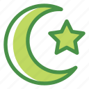 eid, fitr, islam, ramadan, starmoon icon