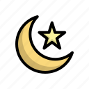 crescent, islam, mosque, star