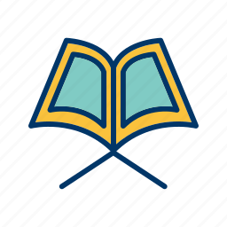 book, holy, islamic, quran, religion icon