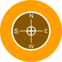 compass, direction, location icon