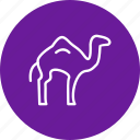 animal, arabian, camel, desert, zoo icon