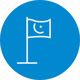 flag, islamic, islamic flag, map icon