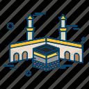 al, haram, islamic, kaaba, muslim, religion icon