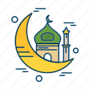 crecent, islamic, mosque, muslim, religion icon