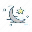 crecent, islamic, muslim, religion, star icon