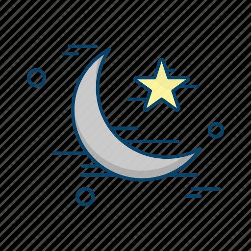 crecent, islamic, muslim, religion, star icon