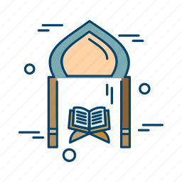 islamic, mosque, muslim, quran, religion icon