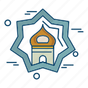 islamic, mosque, muslim, religion, star icon
