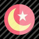 crescent, eid, islam, moon, mubarak, muslim, ramadan icon