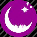 crescent, islam, moon, mosque, ramadan, ramzan, stars icon