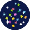 blast, celebrate, celebrations, crackers, fireworks, sky, stars icon