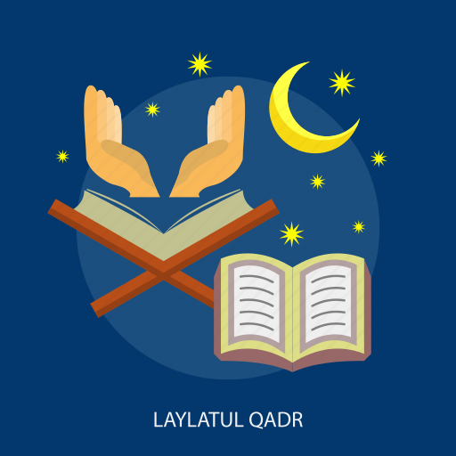 book, islamic, laylatul, moon, qadr, ramadan, religion icon
