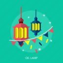 flag, islamic, lamp, light, ramadan, religion, star icon