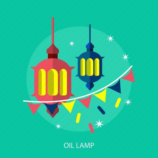 flag, islamic, lamp, light, ramadan, religion, star icon