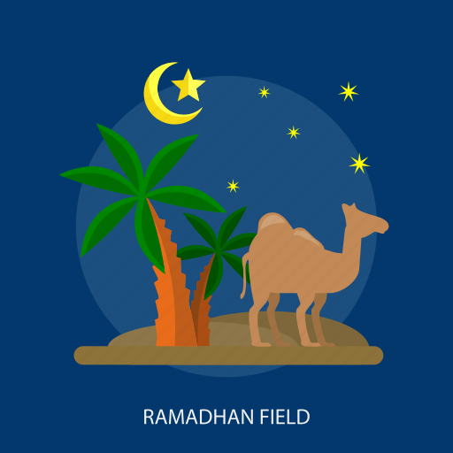 camel, desert, field, islamic, ramadan, religion, tree icon
