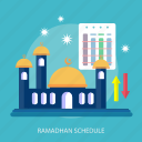 event, islamic, mosque, ramadan, religion, schedule, star icon