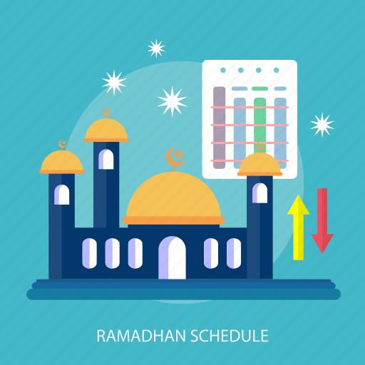 event, islamic, mosque, ramadan, religion, schedule, star icon
