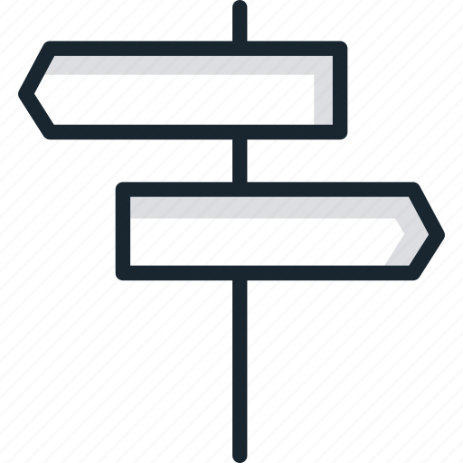 directions, marks, navigation, roads, signboard, signs, ways icon