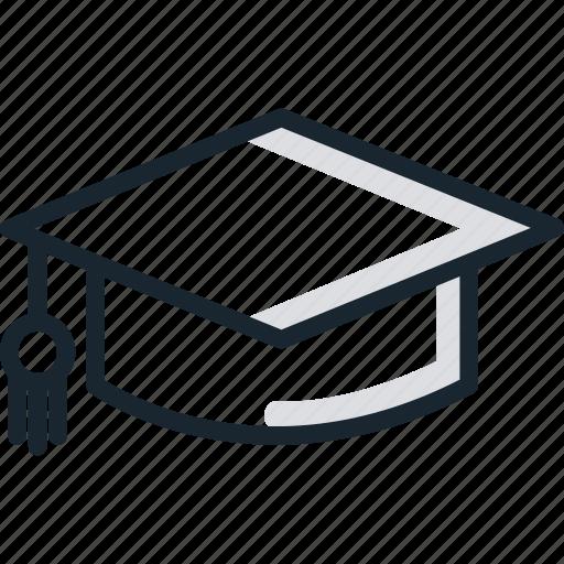 education, graduation, hat, high, school, university icon