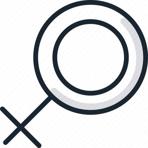 female, feminine, gender, sex, sign icon