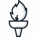 fire, flame, games, olympic, sports, torch icon