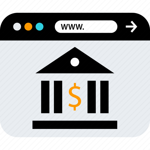 banking, browser, seo icon
