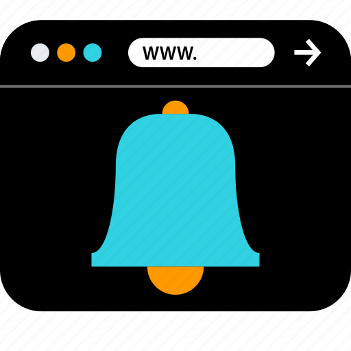 bell, browser, seo icon