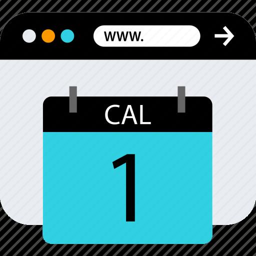 browser, calendar, seo, web icon