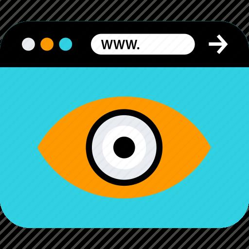 eye, views, watch icon