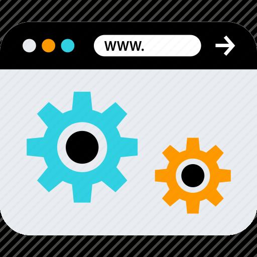 gears, options, www icon
