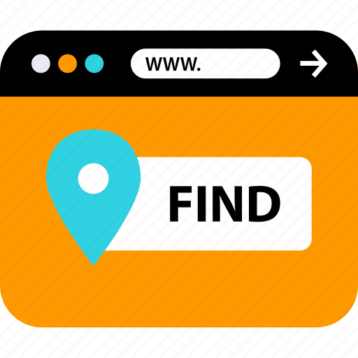 find, gps, web, www icon