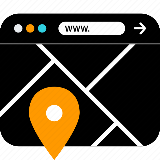 gps, locate, www icon