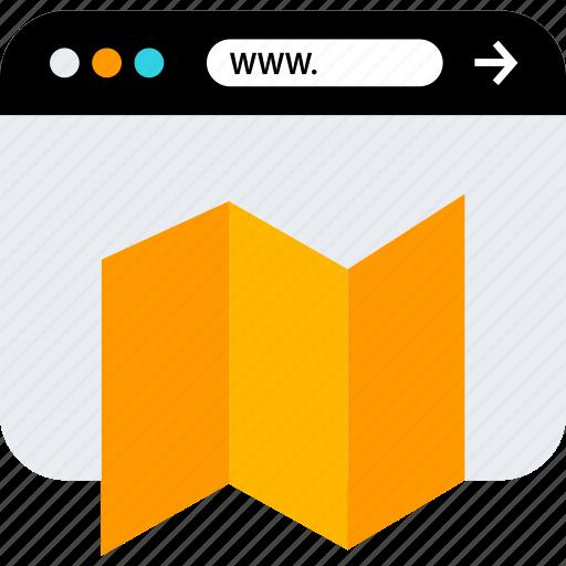locate, map, seo, www icon