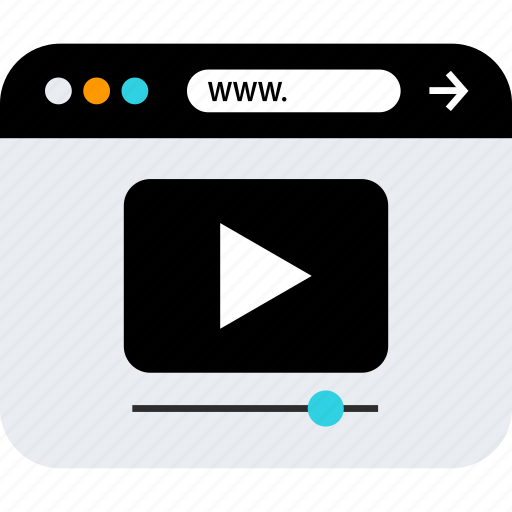 play, video, www icon