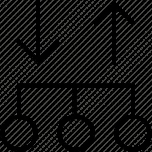 analyze, arrows, data icon