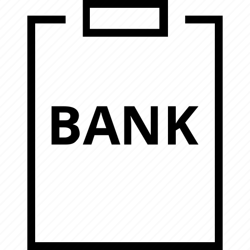 banking, clipboard, finance, note icon