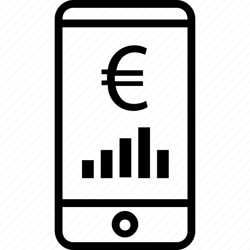 bars, cell, online, phone icon