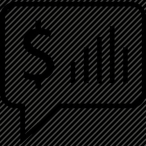 chat, finance, money, talk icon