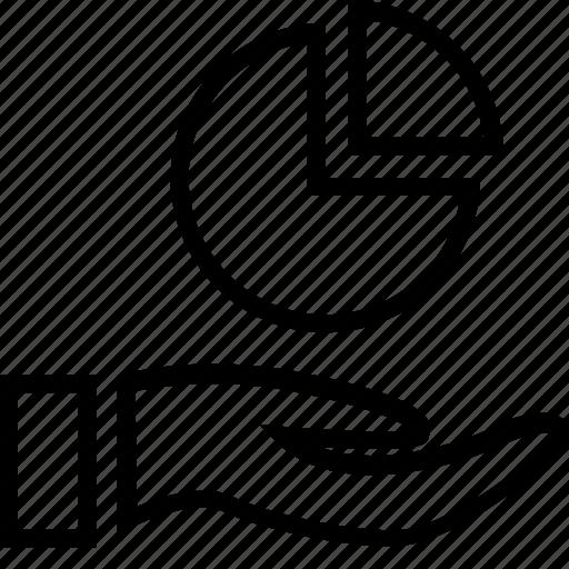 chart, data, finance, hand icon
