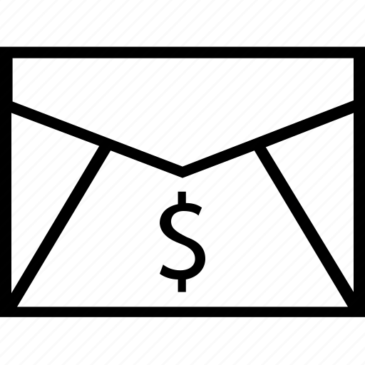 dollar, email, online, sign icon