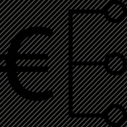 data, euro, revenue, strategy icon