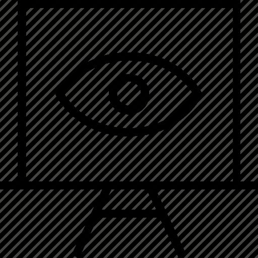 board, eye, finance, search icon