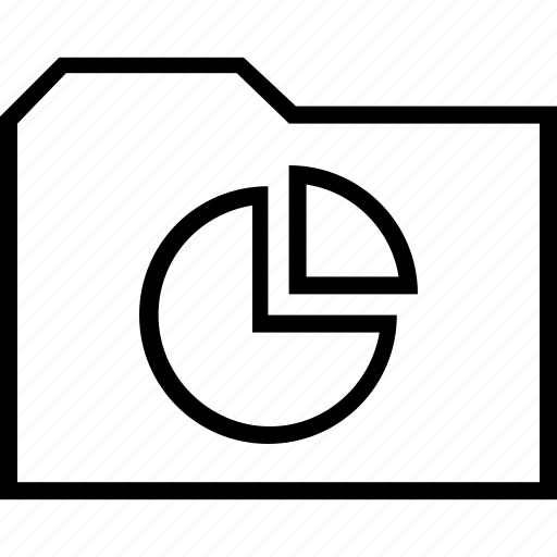 finance, folder, money, pie icon