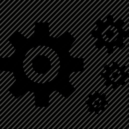 gear, gears, multiple icon