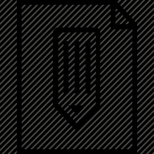 note, pencil, revenue, write icon