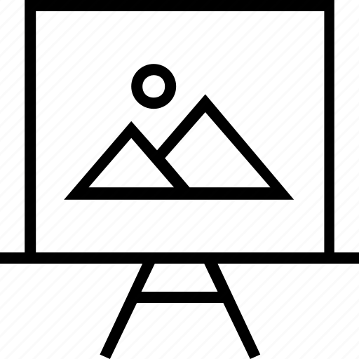 board, learn, picture icon