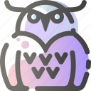 animal, animals, bird, fly, owl, wild icon