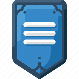 army, badge, blue, insignia, military, rank, three icon